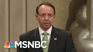 NYT Ed. Board: Rosenstein, Wray 'Must Stand Up To The President' | The Last Word | MSNBC