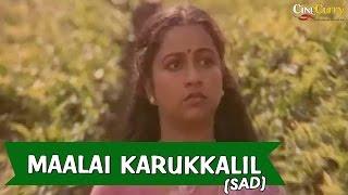 Maalai Karukkalil (sad) Video Song | Neethiyin Marupakkam | Vijayakanth, Radhika