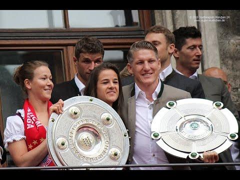 Meisterfeier 2015 FC Bayern -Empfang Rathausbalkon komplett