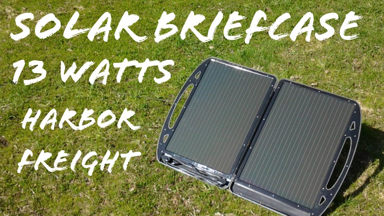 Testing A 13 Watt Solar Briefcase Youtube Harbor Freight Panel Wiring Diagram