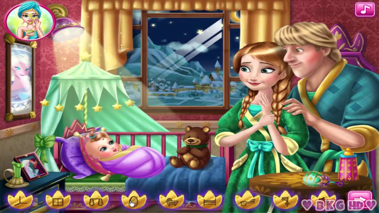 Anna and Kristoff Baby Feeding ♥ Disney Princess Anna Baby ...