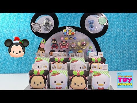 Disney Tsum Tsum Exclusive Figure Blind Box Christmas Toy Review | PSToyReviews