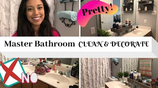 CLEAN AND DECORATE MASTER BATH WITH ME 2019 | FRESH LOOK #decoratewithme #masterbathclean