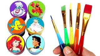 Little Mermaid Ariel Drawing & Painting with Surprise Toys Prince Eric Ursula King Triton Sebastian