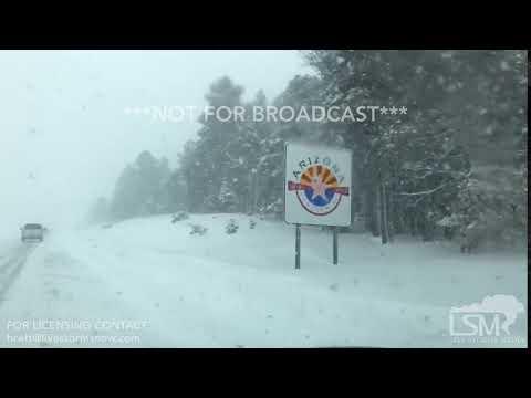 2-21-19 Flagstaff, AZ Whiteout Conditions on i17