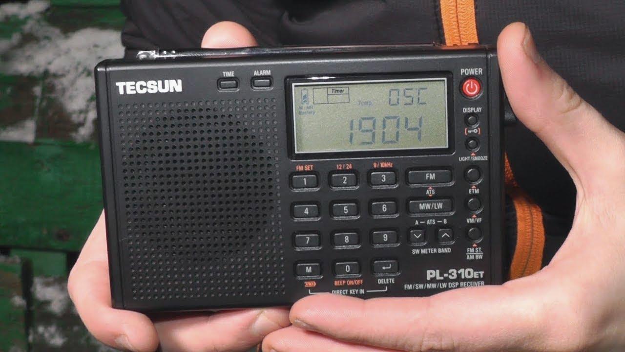 Приемник TECSUN PL 360 режим ETM или поиск КВ станций за городом .