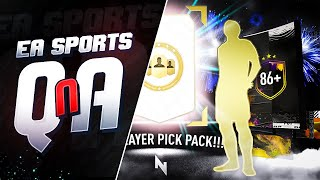86+ PLAYER PICK PACKS ARE BACK! & #FIFA21 QUESTIONS ANSWERED! - FIFA 20 Ultimate Team