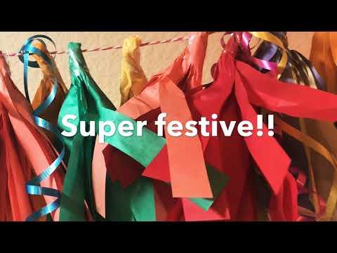 Fun & Festive Tissue Paper Tassel Banner!
