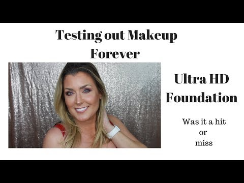 Foundation For mature skin. Testing out Makeup Forever Ultra HD Foundation