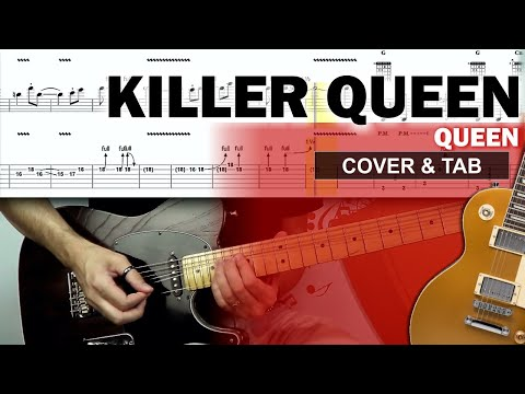 COMO TOCAR: Killer Queen Cover e   de Guitarra Completa com Solo Original