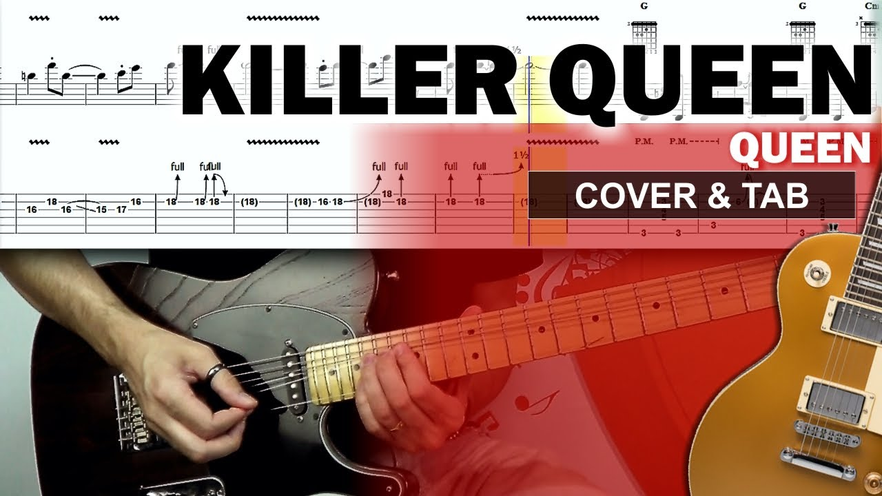 Download COVER & TAB: Killer Queen (Guitar Cover with Original Solo and Tabs)