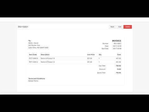 Single Page Application with Laravel 5.5 and Vue.js 2 - Invoice (NO AUDIO)