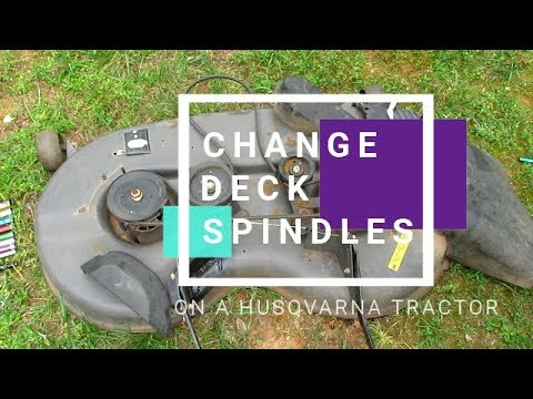 Replace Deck Spindles Husqvarna Yard Tractor Yth22v46