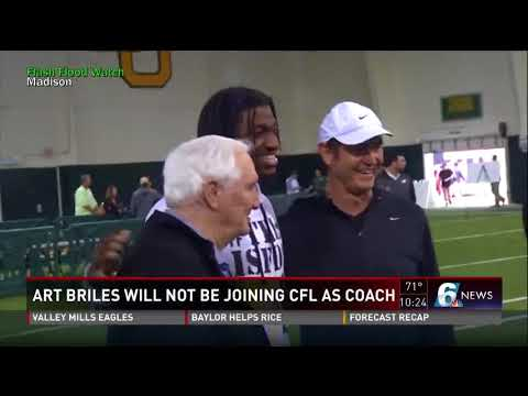 Art Briles will not be joining CFL as Coach