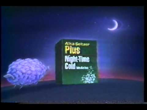 Alka Seltzer Plus Night Time Cold Medicine Commercial (1995)