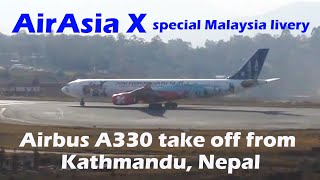 Air Asia X Airbus A330 with Malaysia Livery taking off