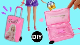 DIY Mini Suitcase for Doll/Dollhouse Accessories Miniature  Rolling Luggage