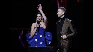 Dua Lipa and Calvin Harris win big at the BRITs Video