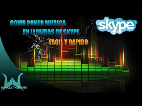 COMO PONER MUSICA EN LLAMADAS DE SKYPE 2014