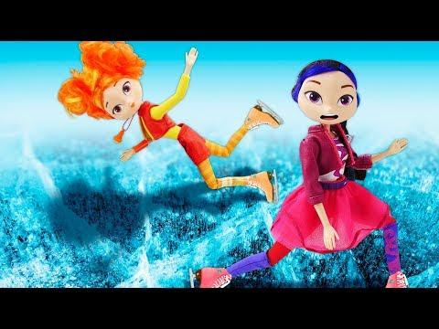Куклы! Снежка Сказочный Патруль сначала замерзла, апотом растаяла! —Видео скуклами