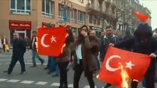 Rojava 💚❤️💛✌🏻❤️☀️💚 bijî Kurdistan✌🏻Fuck Turkiya 🖕🏿حرق علم تركي