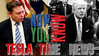 Tesla Time News - Elon Musk Leaves Trump
