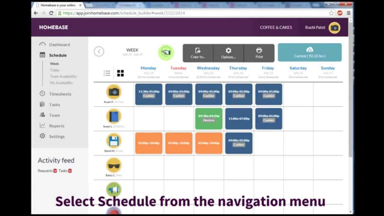 Build And Publish Your Schedule
