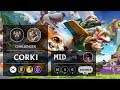Corki Mid vs Akali - KR Challenger Patch 9.9
