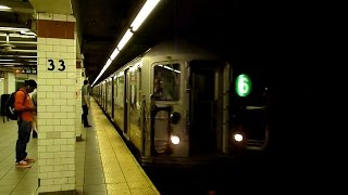 IRT Lexington Avenue Line: 33rd Street (R62A, R142, R142A trains)