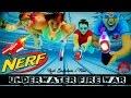 Epic Nerf War Movie: UNDERWATER FIRE WAR - Boys Vs Girls| Underwater Fight With Gymnastics in 4K