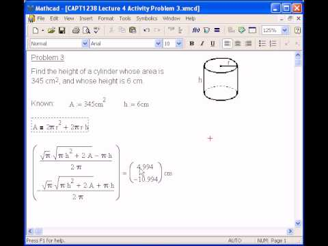 Multiple Symbolic Solutions In Mathcad Youtube