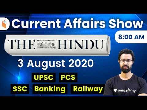 8:00 AM - Daily Current Affairs 2020 by Bhunesh Sir | 3 August 2020 | wifistudy