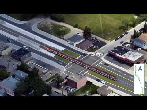 Green Line LRT: North to South track alignment (March 2017)
