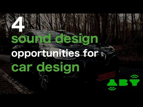 Audio Branding Vlog: 4 sound design opportunities for car design.