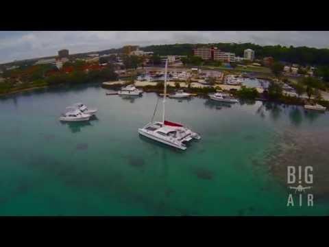 Hagatna Boat Basin, Guam - aerial video