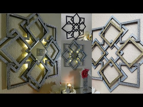 Dollar Tree DIY Glam Wall Art| DIY Elegant Home Decor with Lighting