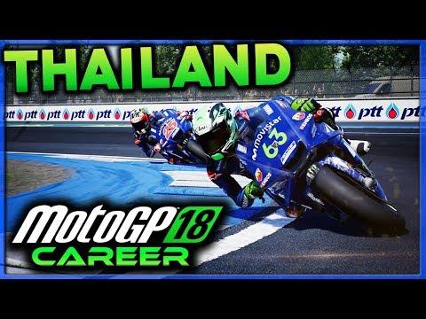 FLYING A MOTOGP BIKE AT THAILAND! | MotoGP 18 Career Mode Part 49 (MotoGP 2018 Game PS4)