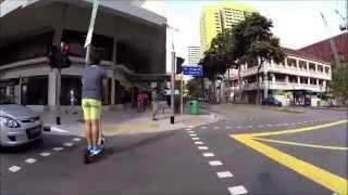 MYWAY and Inokim Cruising through Downtown Singapore