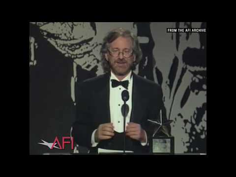 """Steven Spielberg Explains Why He's A """"cinemaniac"""" While Accepting The AFI Life Achievement Award"""