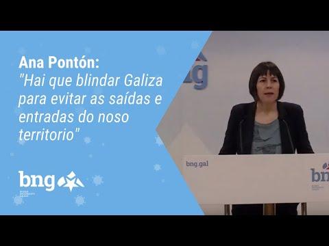 """Ana Pontón: """"Hai que blindar Galiza para evitar as saídas e entradas do noso territorio"""""""