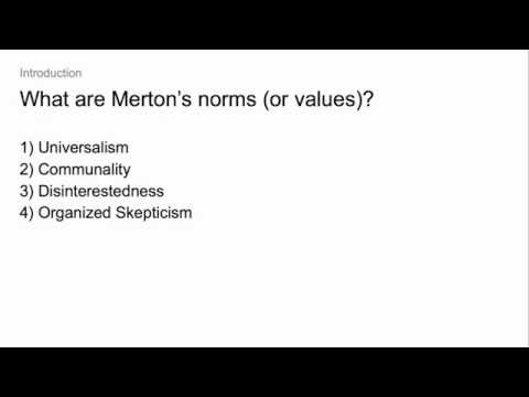 What are Merton's norms?