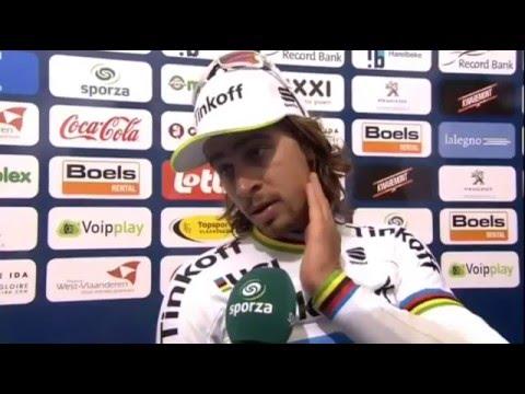 Interview Peter Sagan after E3 Harelbeke (via Sporza) (2)
