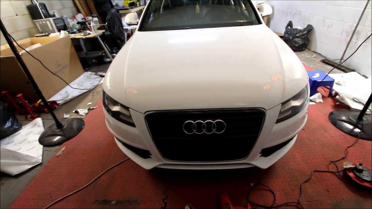 Audi A4 3M Gloss White Wrap - YouTube