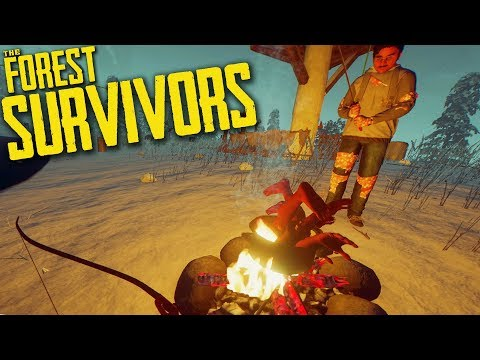 The Forest | Survivors Part 6 | NEW MODERN BOW AND DISGUSTING STEWS!! (Update 0.69)