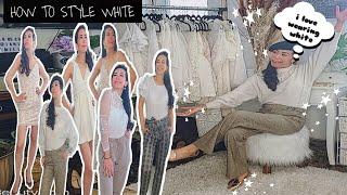HOW TO STYLE WHÏTE OUTFITS #whiteoutfits #janicemillis #pinaylifeincanada