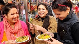 BHEL PURI Eating Challenge with Nanad - Bhabhi in Local Market | #HimmiStyles  #foodchallenge