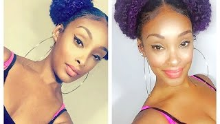 Space Buns Using MARLEY HAIR Tutorial | A Simple Summer Protective Style