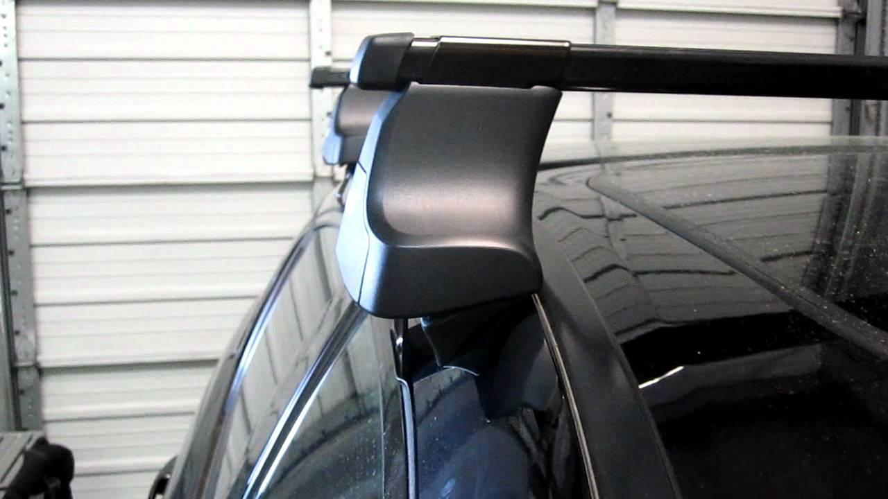 2004 2008 Acura TL Sedan With Thule 480 SquareBar Roof Rack By Rack  Outfitters
