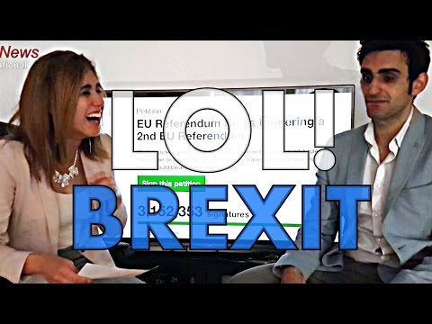 Brexit News Reporter Can't Stop Laughing | Outtakes