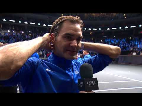 Roger Federer on court interview (Match 12) | Laver Cup 2017